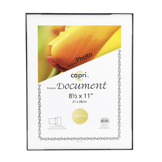 KG Front Loading 8.5x11 Document Frame