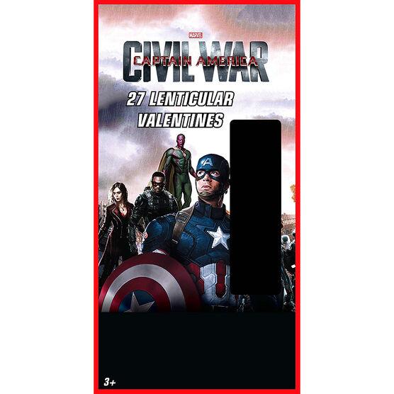 Captain America Lenticular Valentines - 27s - 4193495