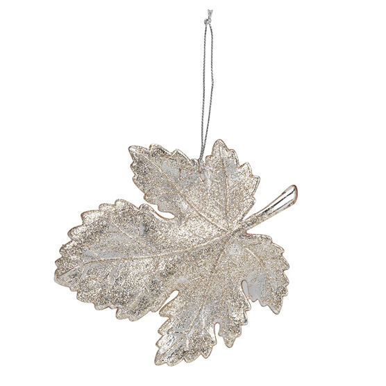 Rose Gold Maple Leaf Ornament - 5.2in