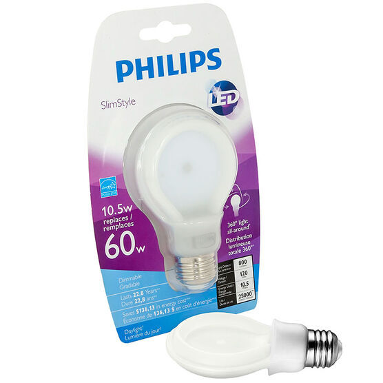 Philips Slimstyle LED - Daylight - 10.5W=60W