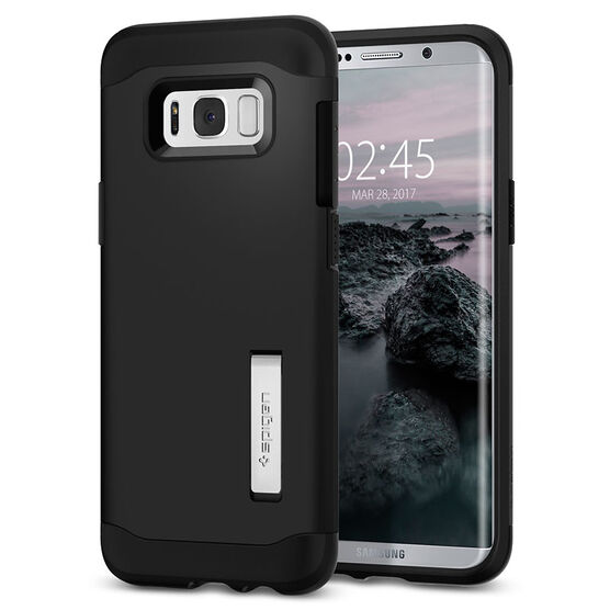 Spigen Slim Armor Case for Samsung Galaxy S8 - Black - SGP565CS20831
