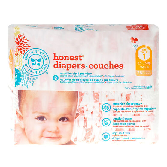 The Honest Compant Honest Diapers - Size 1 - 38's