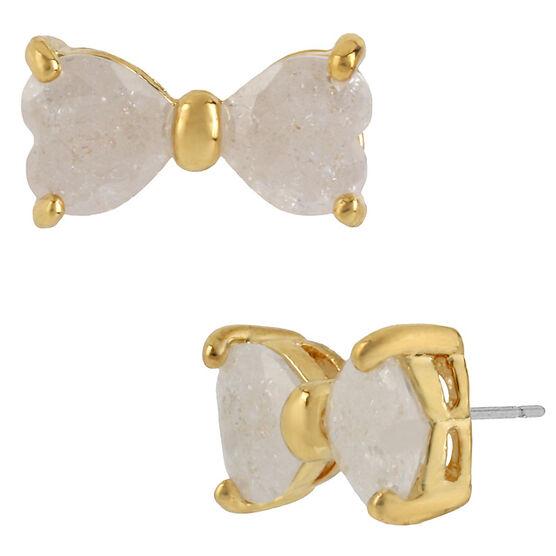 Betsey Johnson Bow Stud Earrings - Ivory