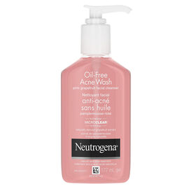 Neutrogena Oil-Free Acne Wash Pink Grapefruit Facial Cleanser - 177ml