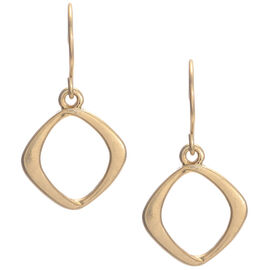 Kenneth Cole Small Square Drop Earrings - Gold Tone