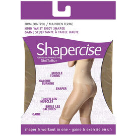 Shapercise High Waist to Knee - Small - Nude
