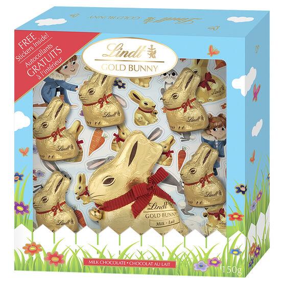 Lindt Gold Bunny Sticker Set - 150g