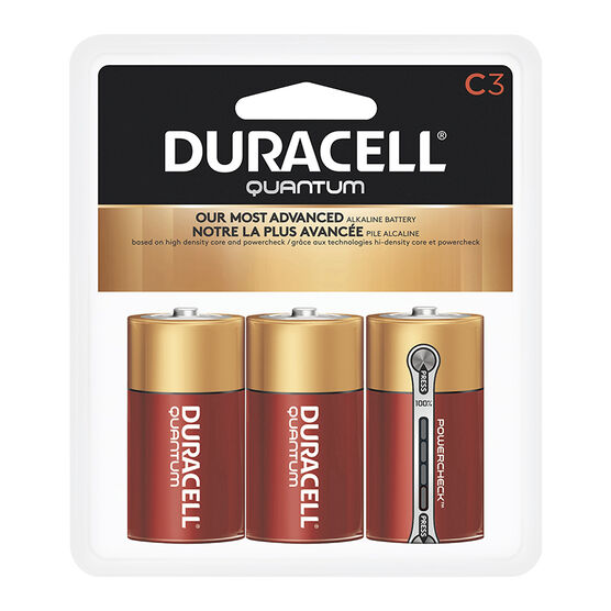 Duracell Quantum C Batteries - 3 pack