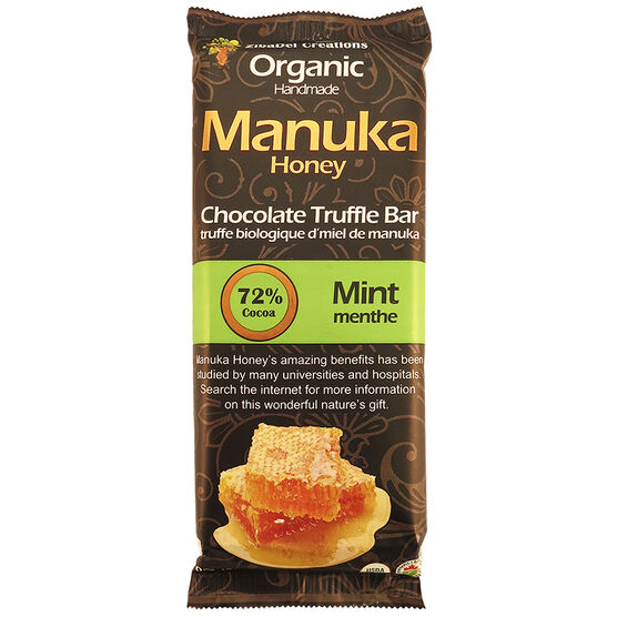 Manuka Honey Chocolate Truffle Bar - Mint - 70g