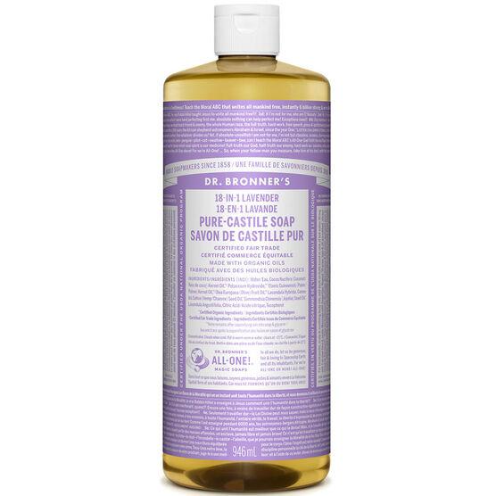 Dr. Bronner's 18-IN-1 Pure-Castile Liquid Soap - Lavender - 944ml