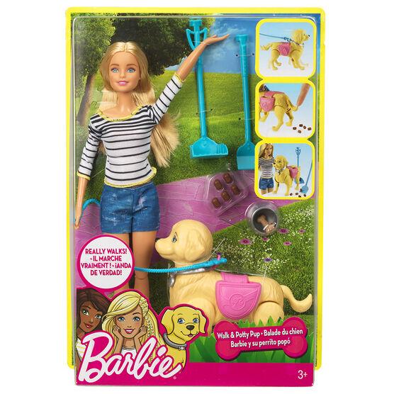 Barbie with Walking Puppy - Blonde - DWJ68