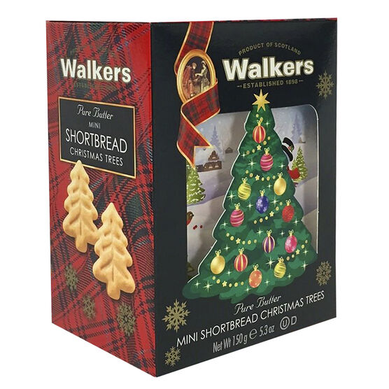 Walkers Mini Christmas Trees Biscuits - 150g