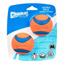 Chuckit Medium Size Ultra Ball for Dogs - 2 pack - Assorted