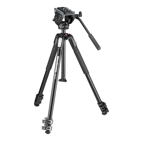 Manfrotto MT190X3 Tripod with MVH500AH Head - MVK500190X