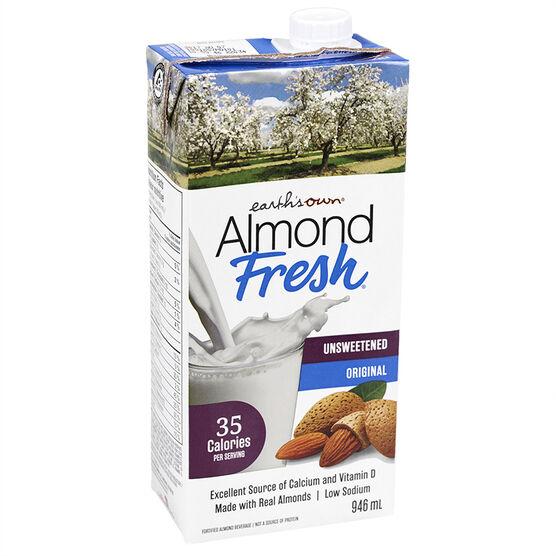 Earth's Own Almond Fresh - Unsweetened - 946ml