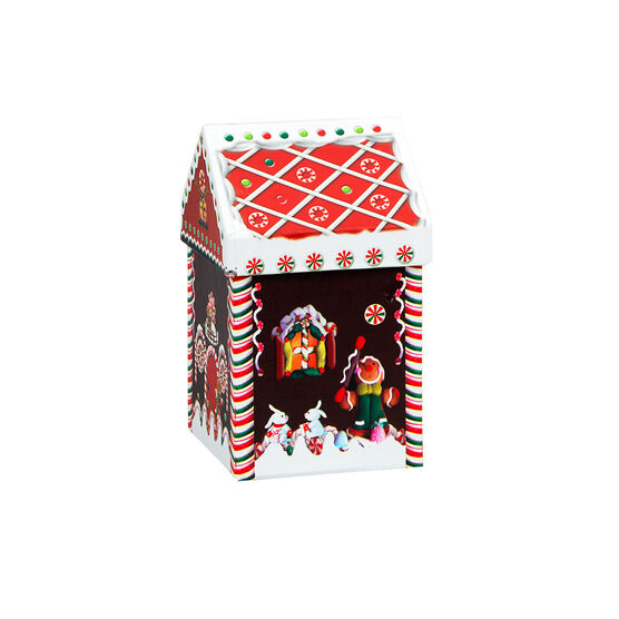 Gingerbread House Box - 3.25 x 3.25 x 6in