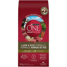 Purina ONE Smart Blend Dog Food - Lamb & Rice - 1.81kg