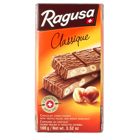 Ragusa - Milk Chocolate Truffle and Whole Hazelnuts - 100g