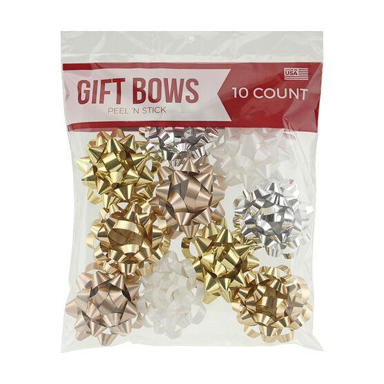 Christmas Mini Galaxy Bows - Metalic - 10's