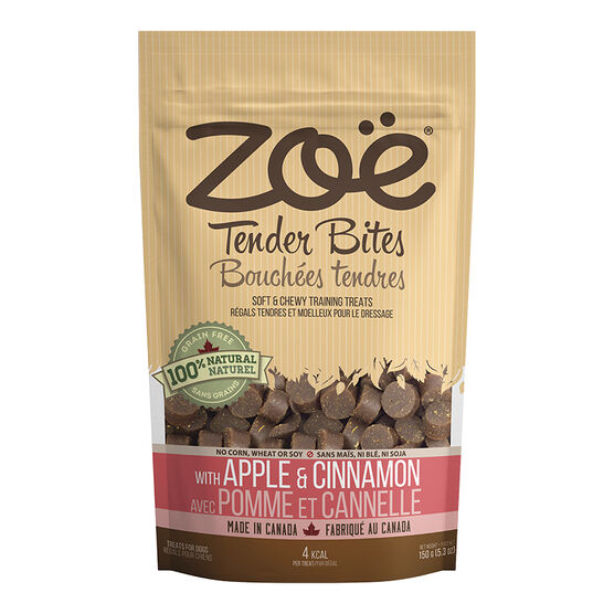 Zoe Tender Bites Dog Treats - Apple Cinnamon - 150g