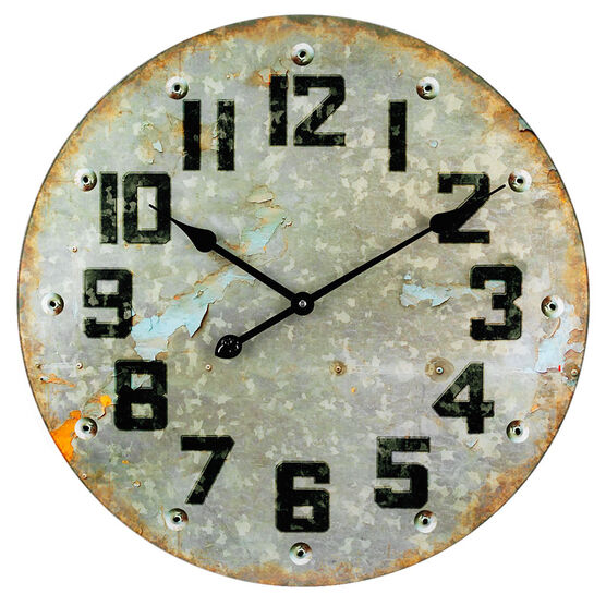 London Drugs Wall Clock - Metal Look - 57cm