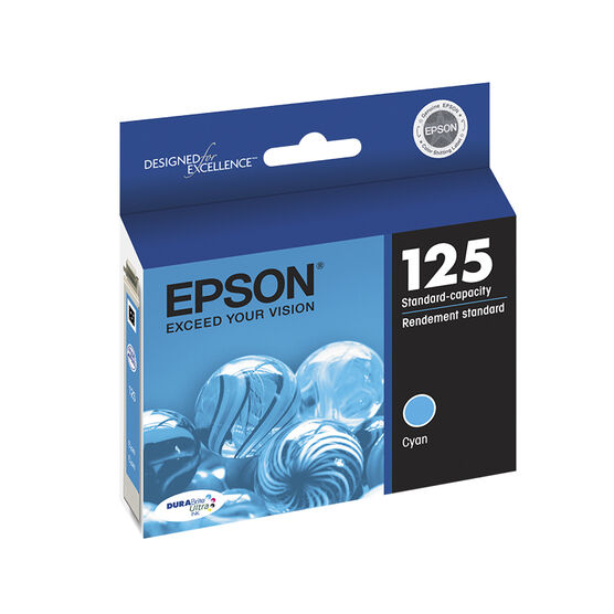 Epson Durabrite Ultra Ink 125 Standard-Capacity Ink Cartridge - Cyan - T125220