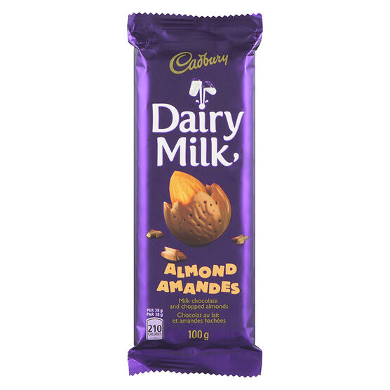 Cadbury Almond Chocolate Bar - 100g