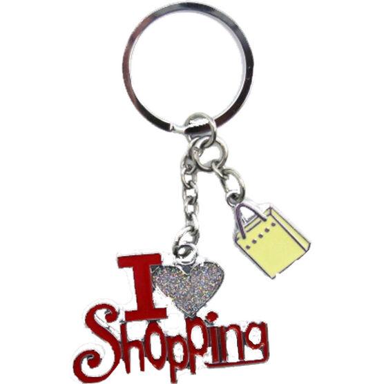 Valentine's I Love Shopping Key Tag