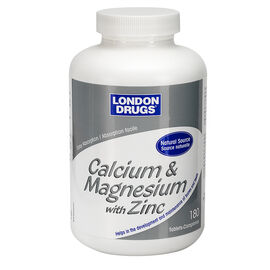 London Drugs Calcium and Magnesium with Zinc - 180's