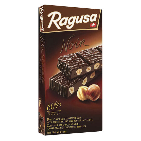 Ragusa - 60% Dark Chocolate Truffle and Whole Hazelnuts - 100g