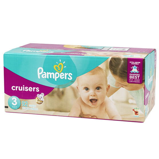 Pampers Cruisers Diapers - Size 3 - 92's