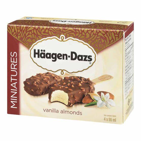 Haagen Dazs Miniatures Vanilla Almonds Bar - 4 x 55ml