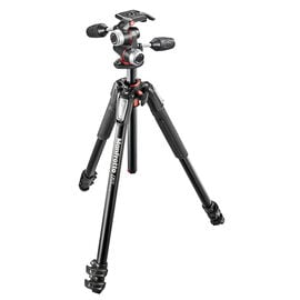 Manfrotto 055 Aluminum 3 Section Tripod with MHXPRO 3-Way Head - MK055XP33W