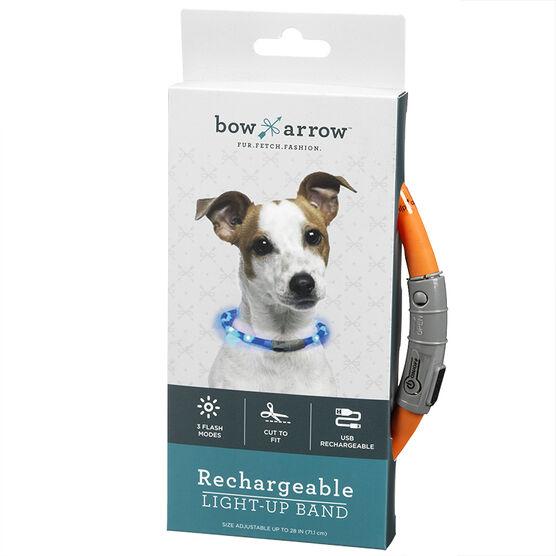 Bow Arrow Rechargeable Pet Collar - Orange