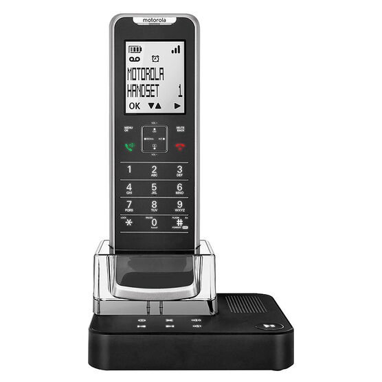 Motorola Premium 1 Handset Cordless Phone with Answering Machine - Black - IT6