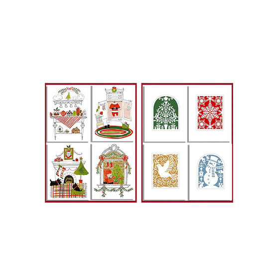 American Greetings Christmas Cards - Mini 4 Up - 20 count - Assorted