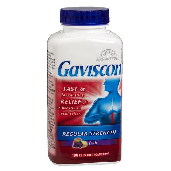 Gaviscon Tablets - Regular Strength - Fruit - 100's