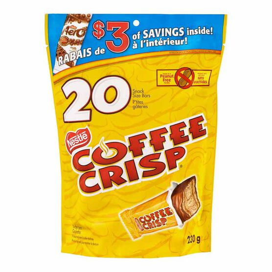 Nestle Coffee Crisp Snack Size Bars - 20 pieces/230g