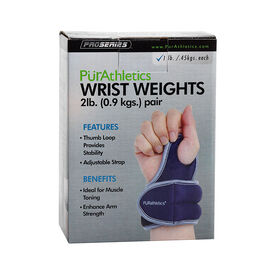 PurAthletics Wrist Weights with Thumb Loop - 2Ib - WTE100852