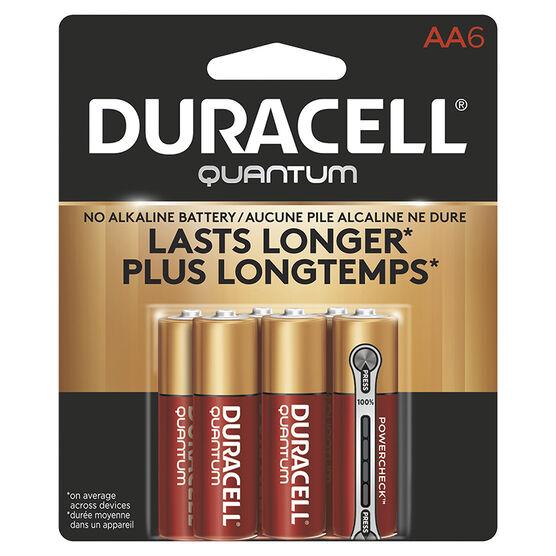 Duracell Quantum AA Batteries - 6 pack