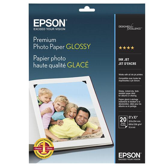 Epson Premium Glossy Photo Paper - 8 x 10 - 20 Sheets - S041465