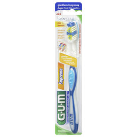 G.U.M Tooth Brush Supreme with Cheek and Tongue Cleaner - Medium