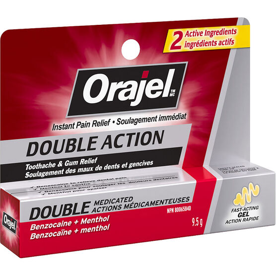 Orajel Double Action Gel Toothache & Gum Relief - 9.5g