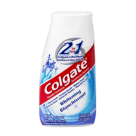Colgate 2in1 Whitening Liquid Gel Toothpaste - 100ml