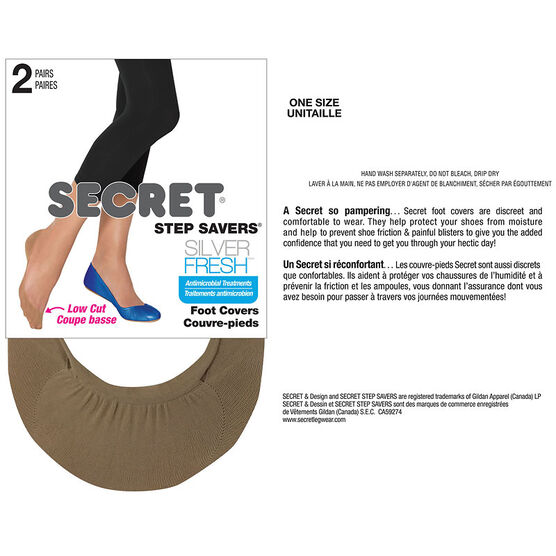 Secret Step Savers Silver Fresh Foot Cover - Nude - 2 pair