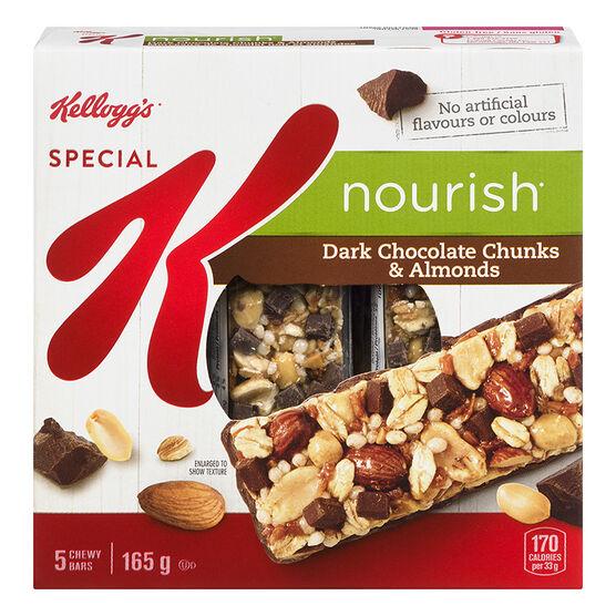 Kellogg's Special K Nourish Bars - Dark Chocolate Chunks & Almonds - 5 pack
