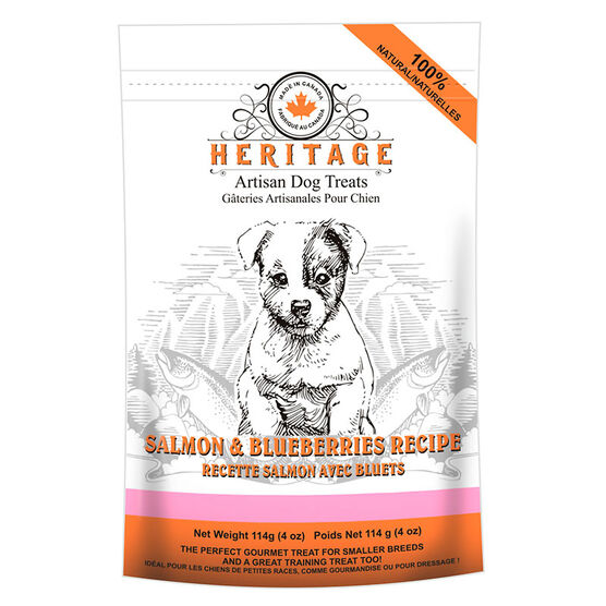 Heritage Teeny Dog Treats - Salmon and Blueberry - 114g