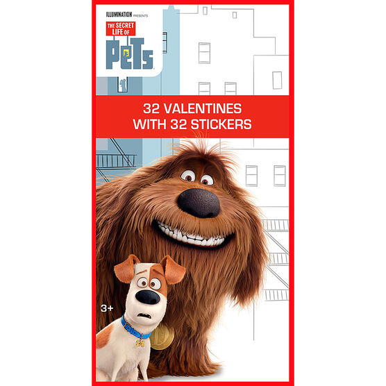 The Secret Life of Pets Sticker Valentines - 32s - 4153855