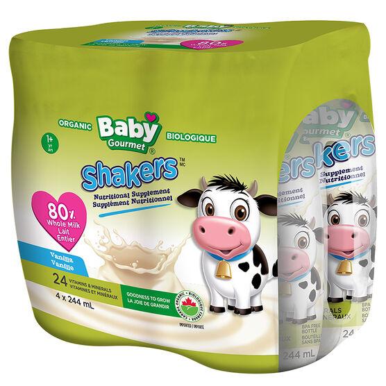 Baby Gourmet Shakers - 4x244ml - Vanilla
