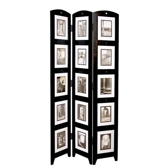Triple Panel Floor Photo Screen - Black
